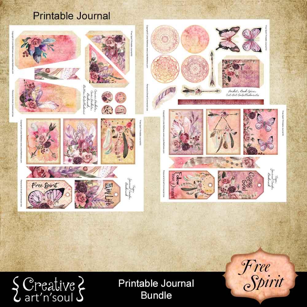 Free Spirit Printable Journal Bundle