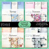 Printable Gratitude Journal Cards Bundle