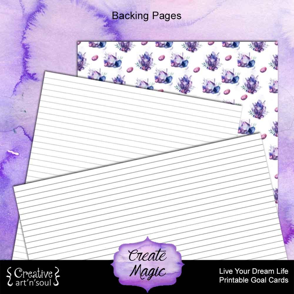 Create Magic Printable Goal Cards