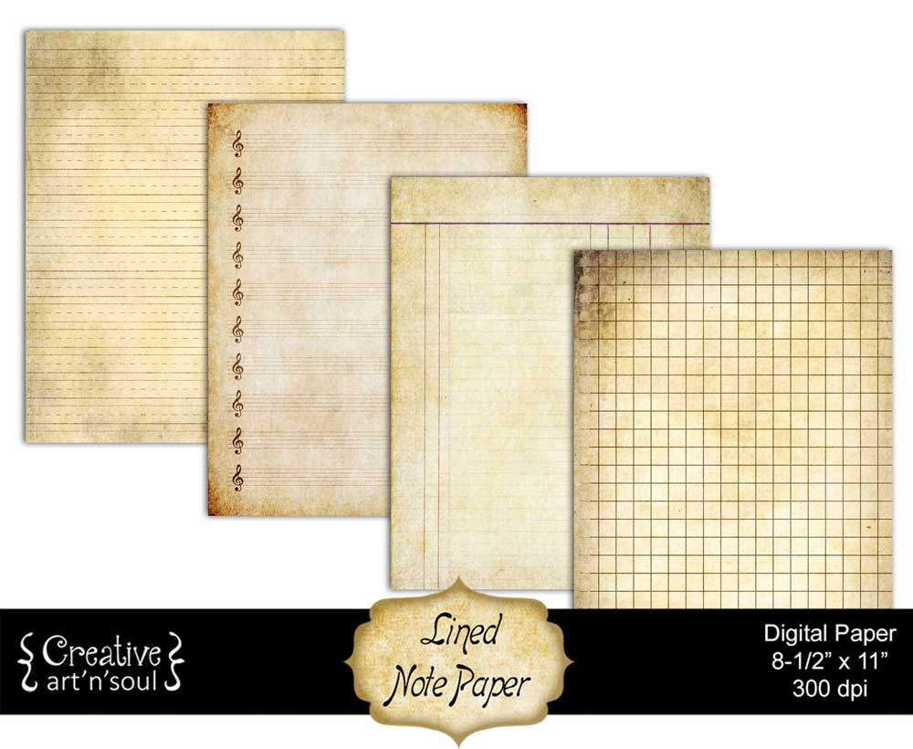 Printable Lined Note Paper 8.5x11