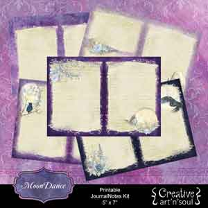 MoonDance Printable JournalNotes Kit