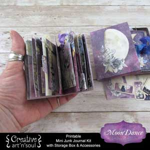 Moondance Printable Mini Junk Journal