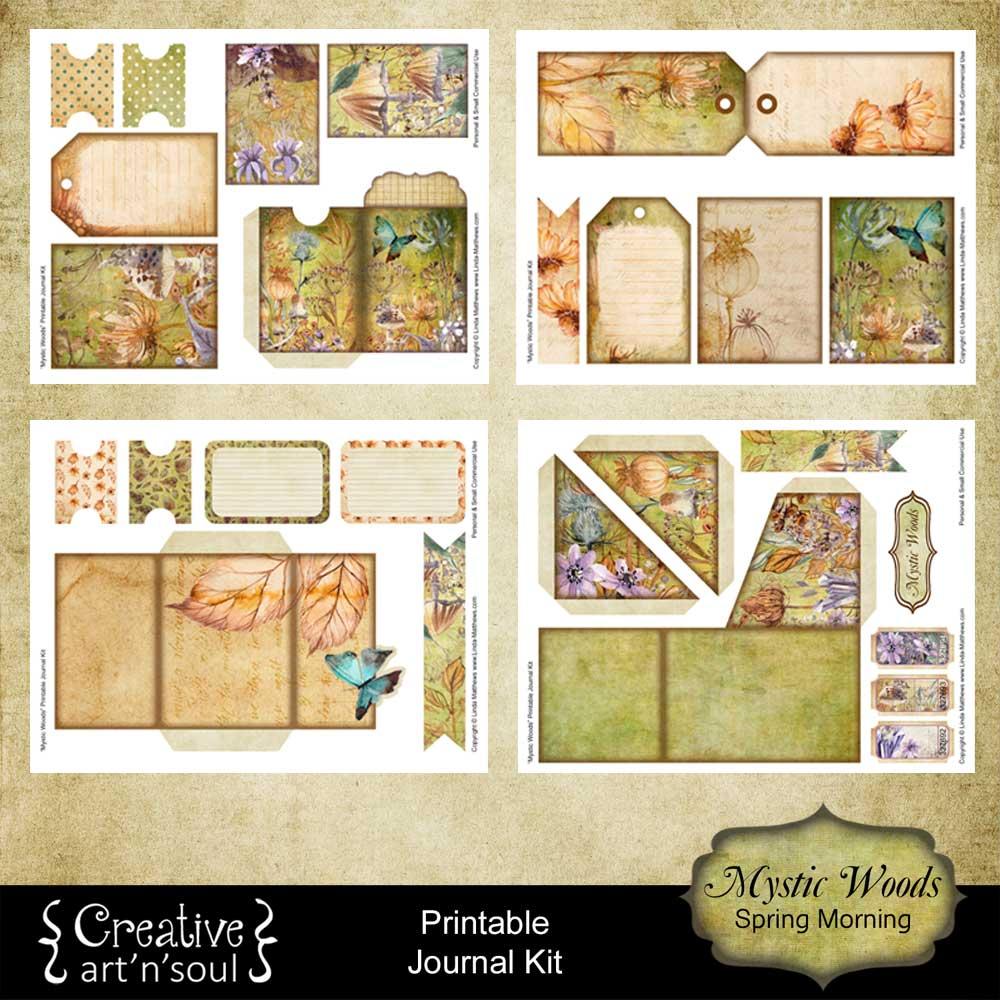 Mystic Woods Printable Journal