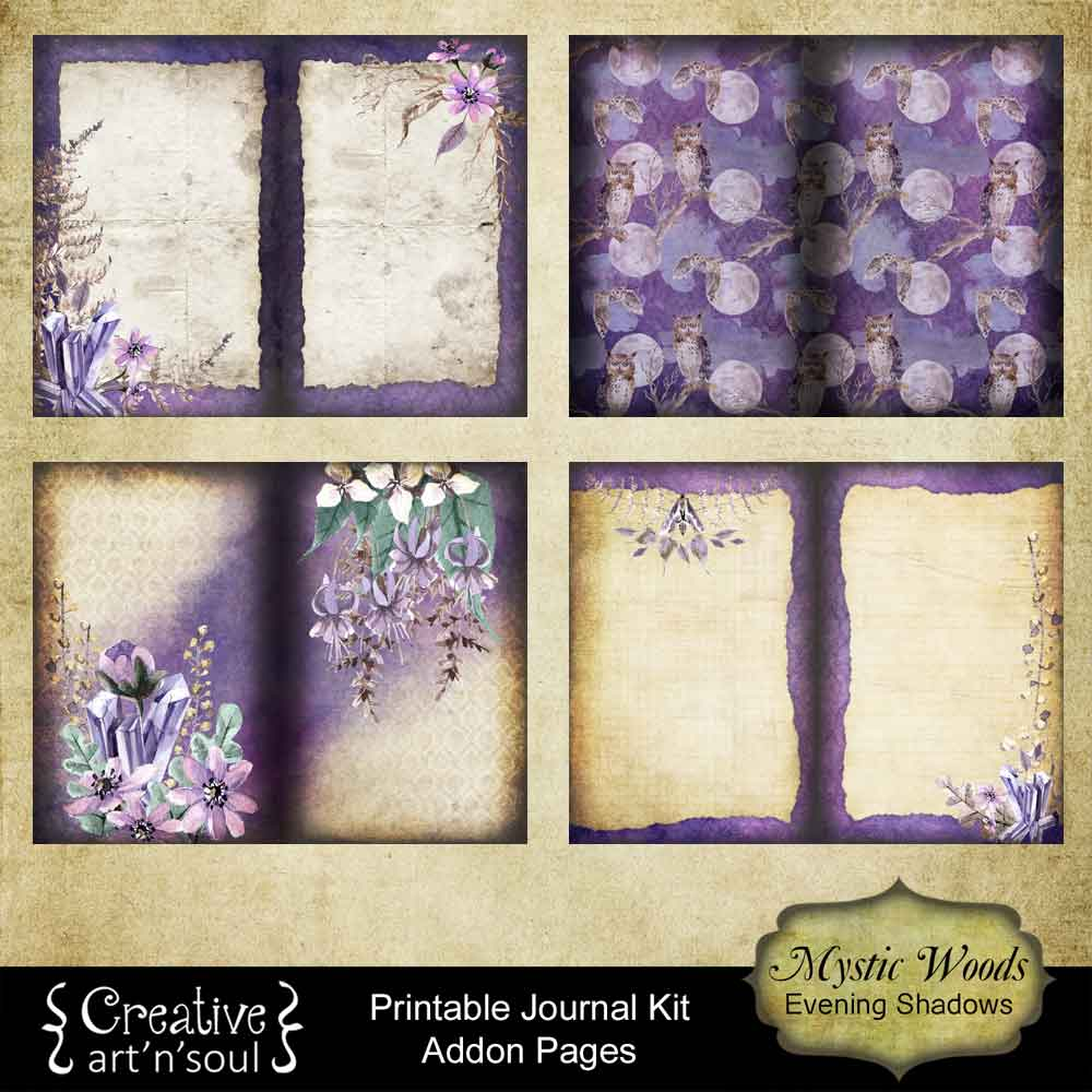 Mystic Woods Printable Journal
