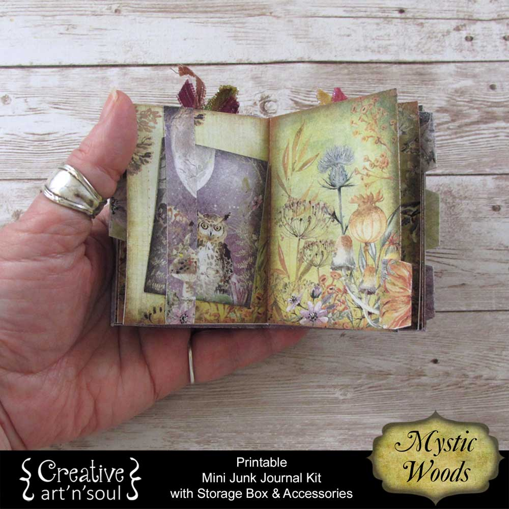 Mystic Woods Printable Mini Junk Journal