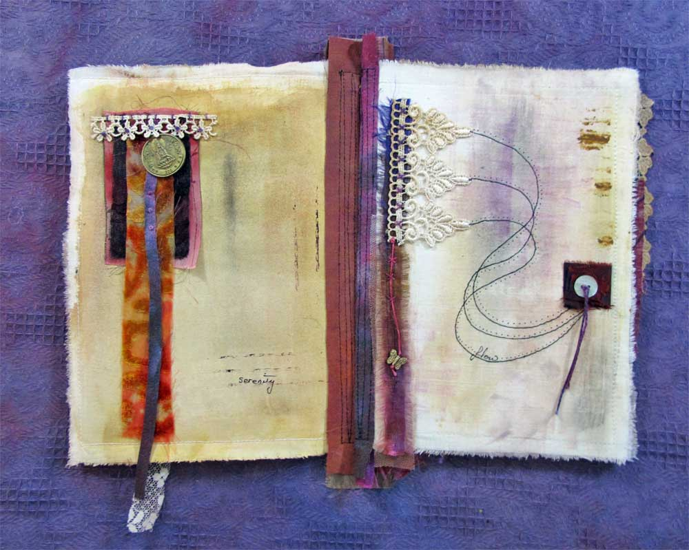 Fragments: a Stitched Mixed Media Journal eProject