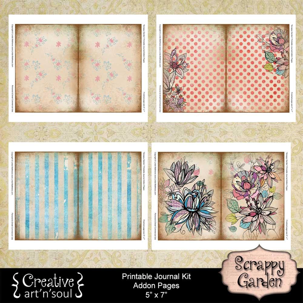 Scrappy Garden Printable Journal