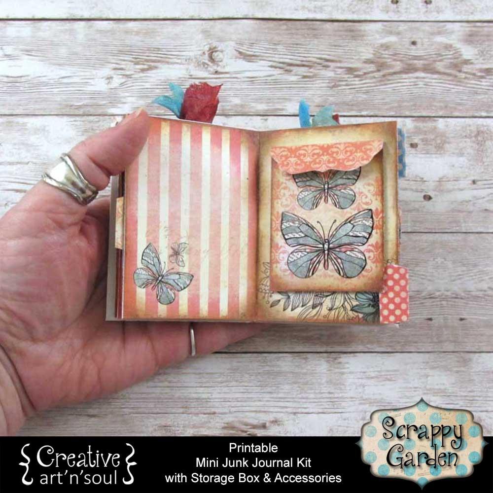 Scrappy Garden Printable Mini Junk Journal