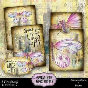Spread Your Wings & Fly Printable Cards