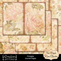 Tea Dyed Rose Garden Printable Journal Pages