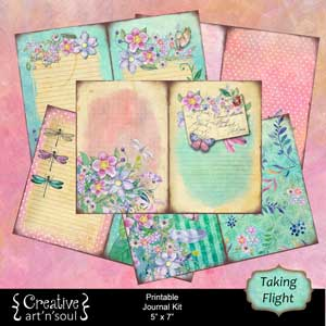 Taking Flight Printable Journal Kit