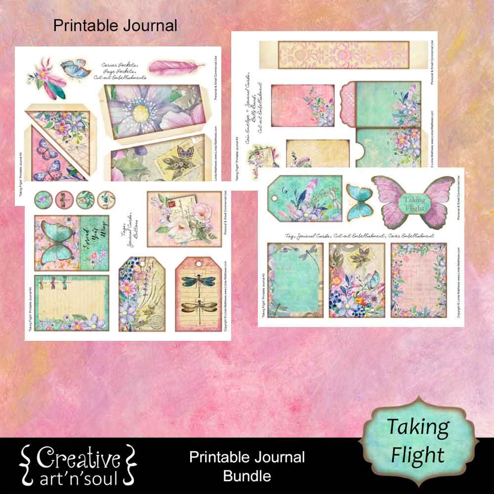 Taking Flight Printable Journal Bundle