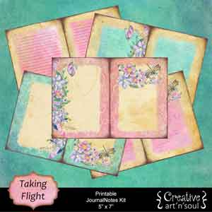 Taking Flight Printable JournalNotes Kit