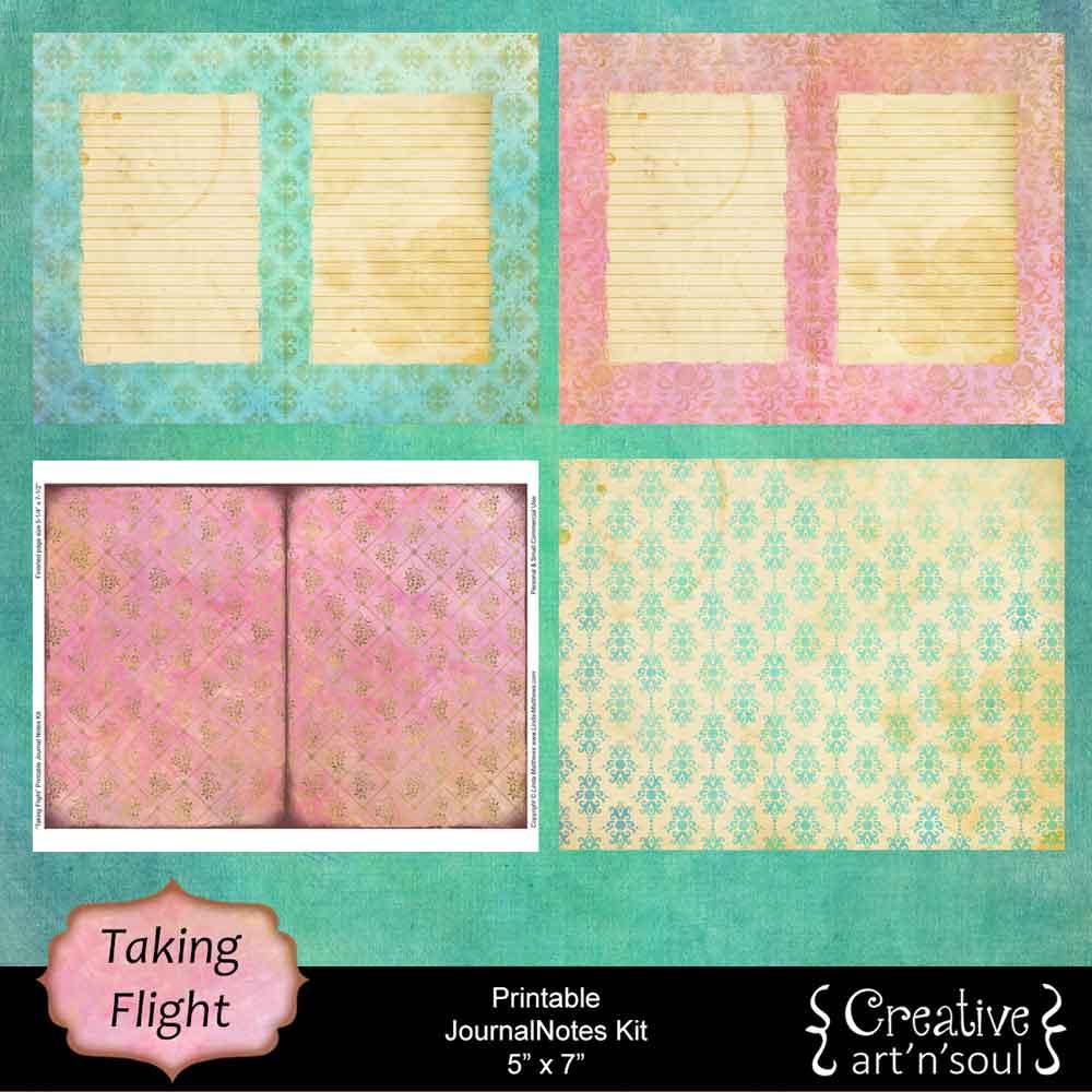 Taking Flight Printable JournalNotes