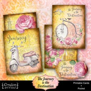 The Journey Is The Destination Printable Cards