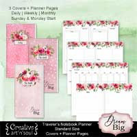 Travelers Notebook Printable Planner Inserts, Standard Size, Dream Big