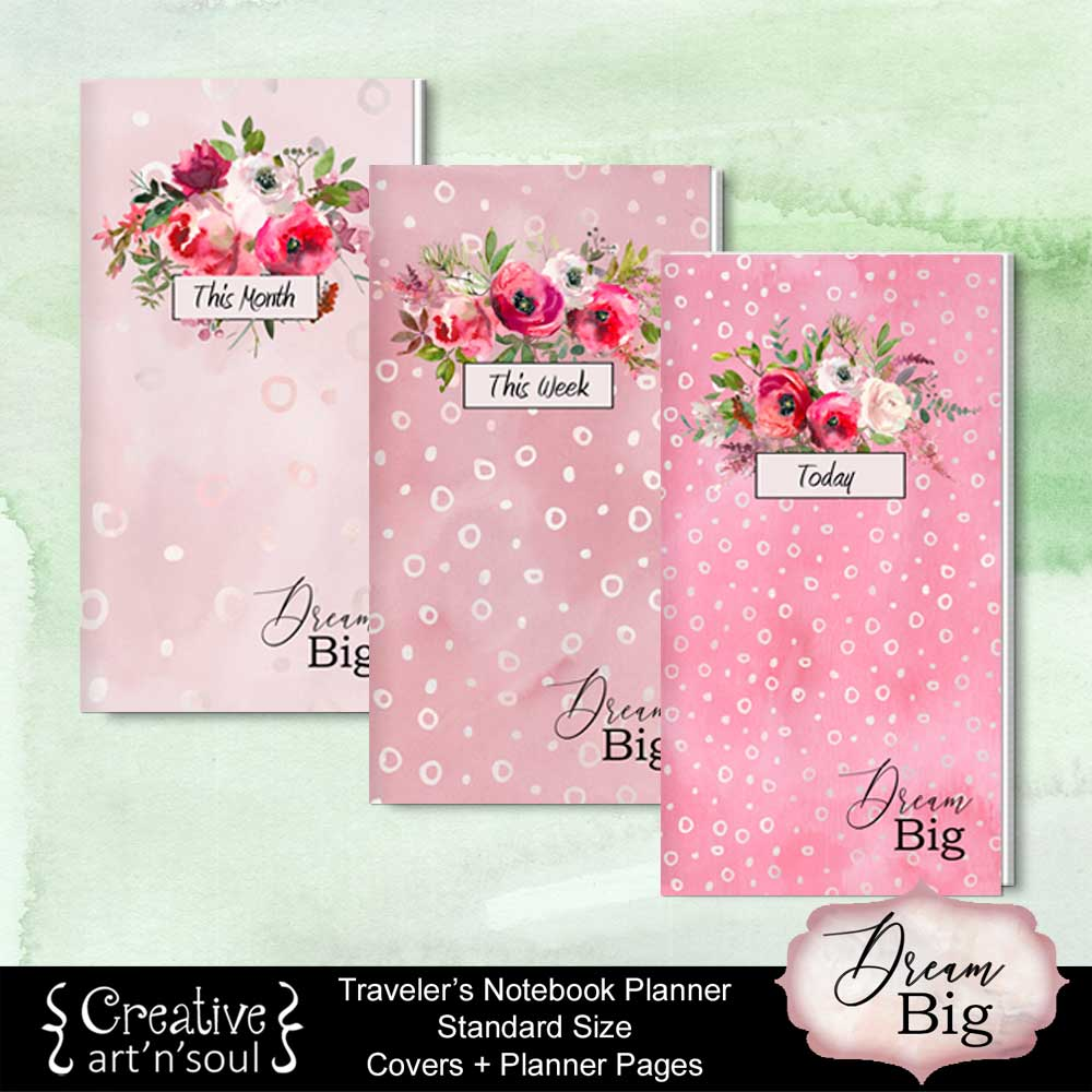 rs Notebook Printable Inserts, Standard Size, Dream Big