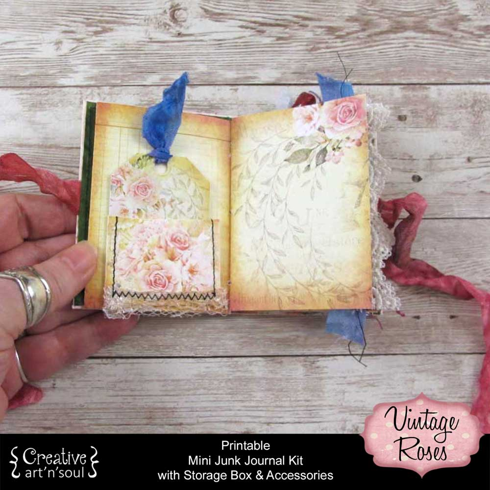 Vintage Roses Printable Mini Junk Journal