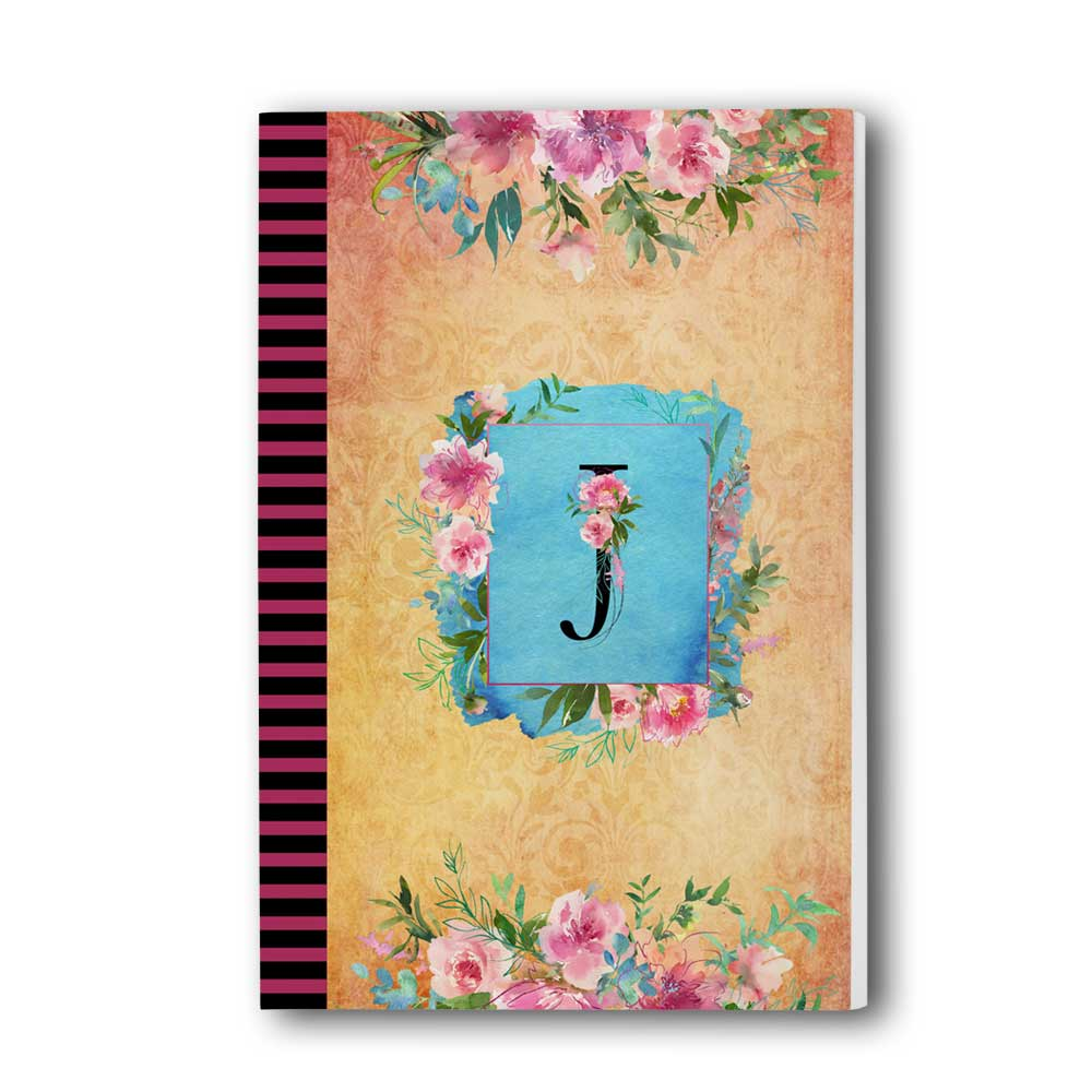 Watercolor Floral Monogram Journal