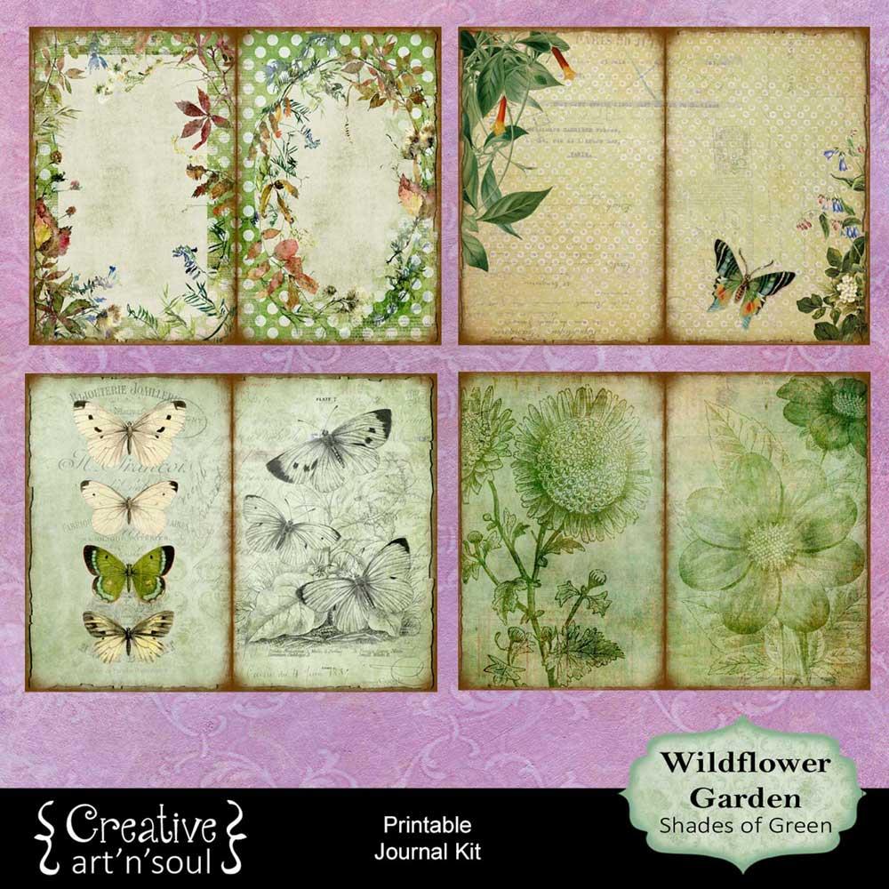 Wildflower Garden Printable Journal