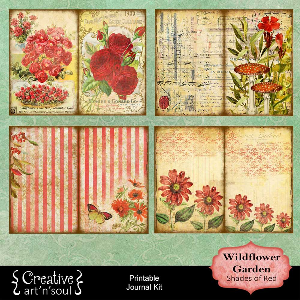 Wildflower Garden Printable Journal