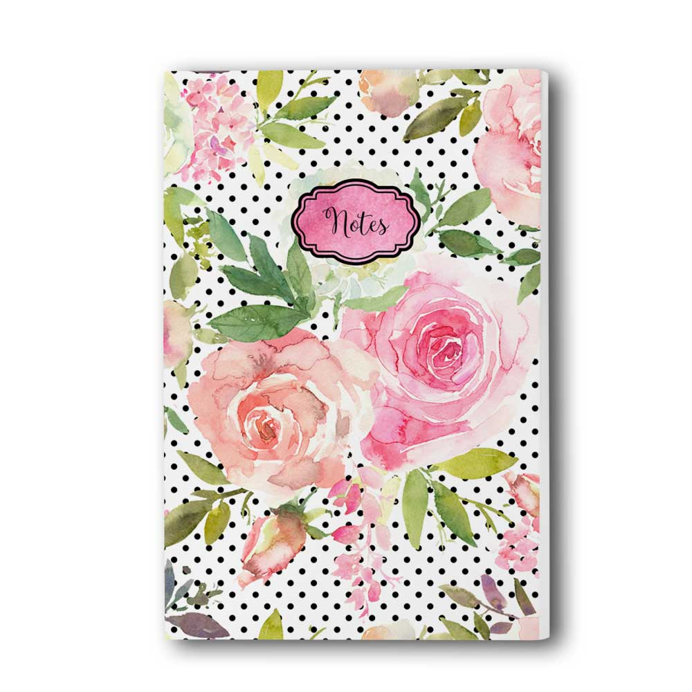 Watercolor Roses Journal/Notebook
