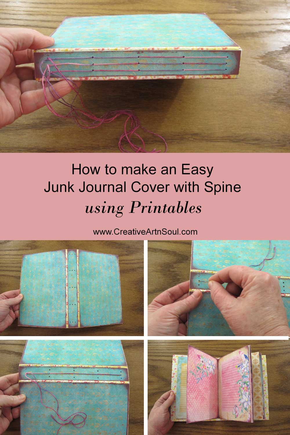 Printable Journal with Spine: Basic Tutorial