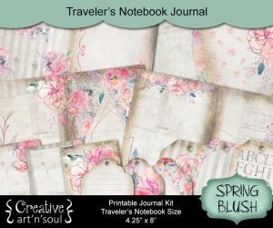 Spring Blush Traveler's Notebook Printable Journal