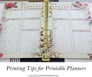 Printing Tips for Printable Planners