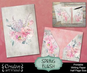 Spring Blush Printable Folder