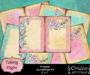 Taking Flight Printable JournalNotes