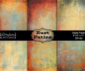 Rust Patina Digital Paper Pack 8.5″ x 11″