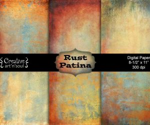 Rust Patina Digital Paper Pack 8.5″ x 11″