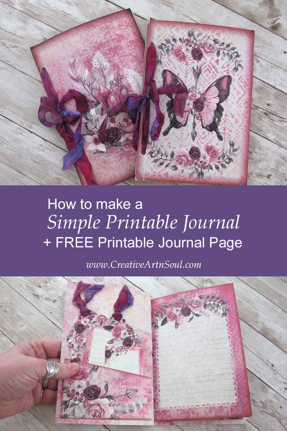 How to make a Simple Printable Writing Journal