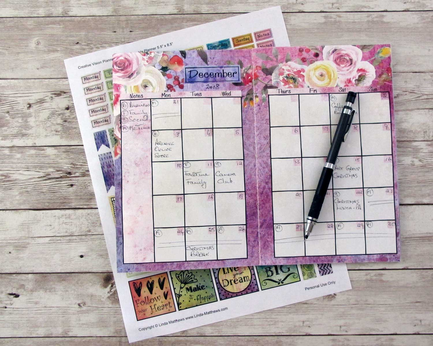 The Creative Vision Planner Journal