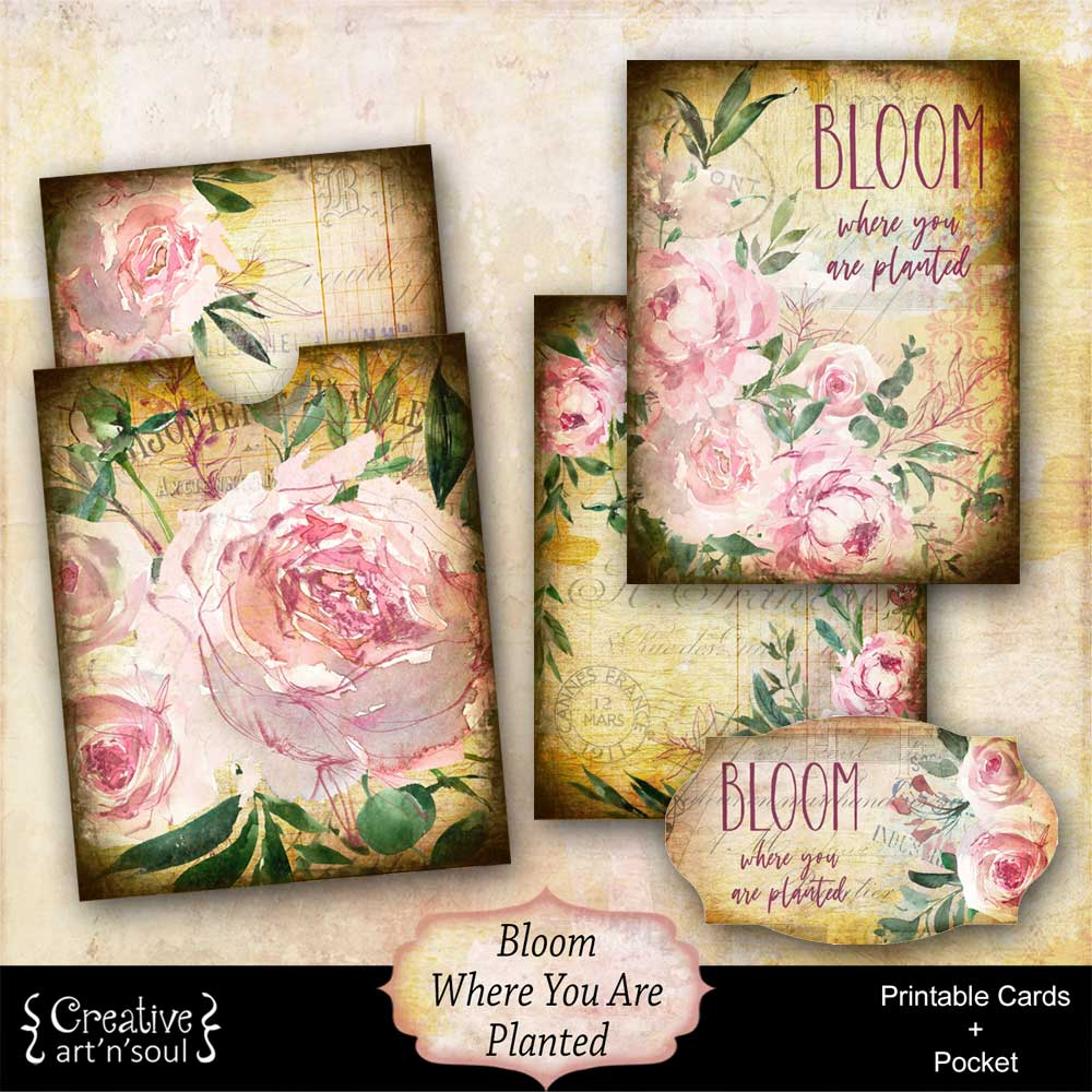 Bloom Where You Are Planted Printable Cards