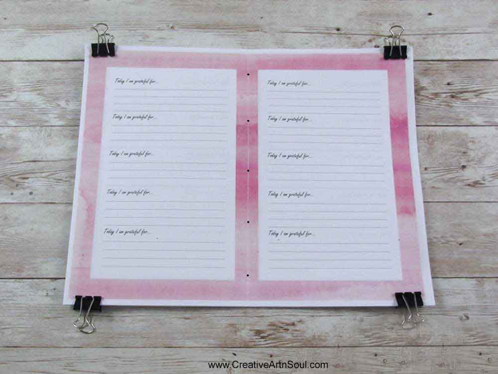 DIY Printable Gratitude Journal