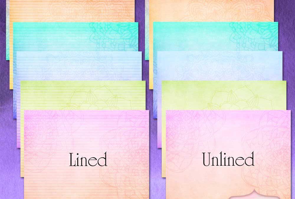 Mandala Rainbow Printable Writing Paper 11″ x 8.5″