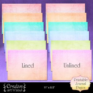 Mandala Rainbow Printable Writing Paper 11″ x 8.5″