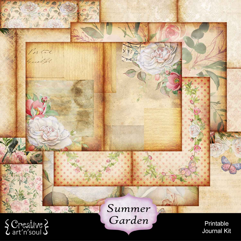 Summer Garden Printable Journal