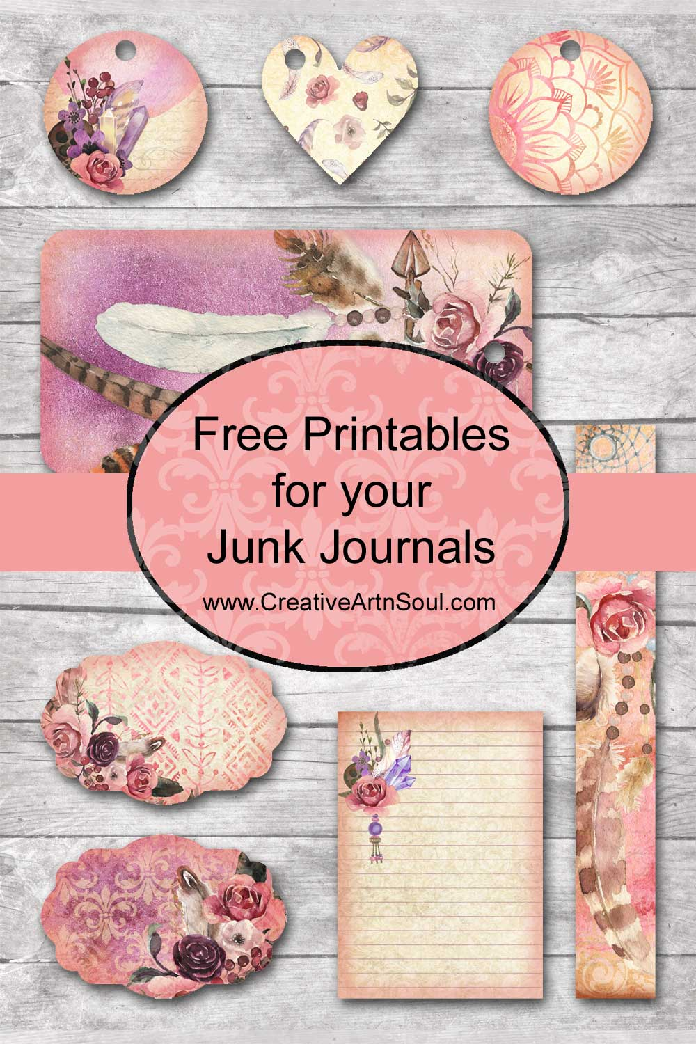 Free Spirit Printables For Your Junk Journals Creative Artnsoul Journaling