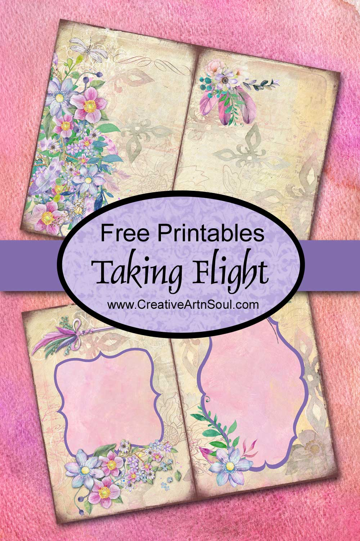 Taking Flight Printable Junk Journal and Free Printables