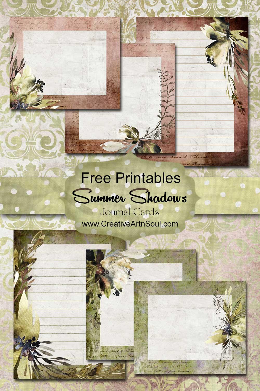 Summer Shadows Journal Free Printables