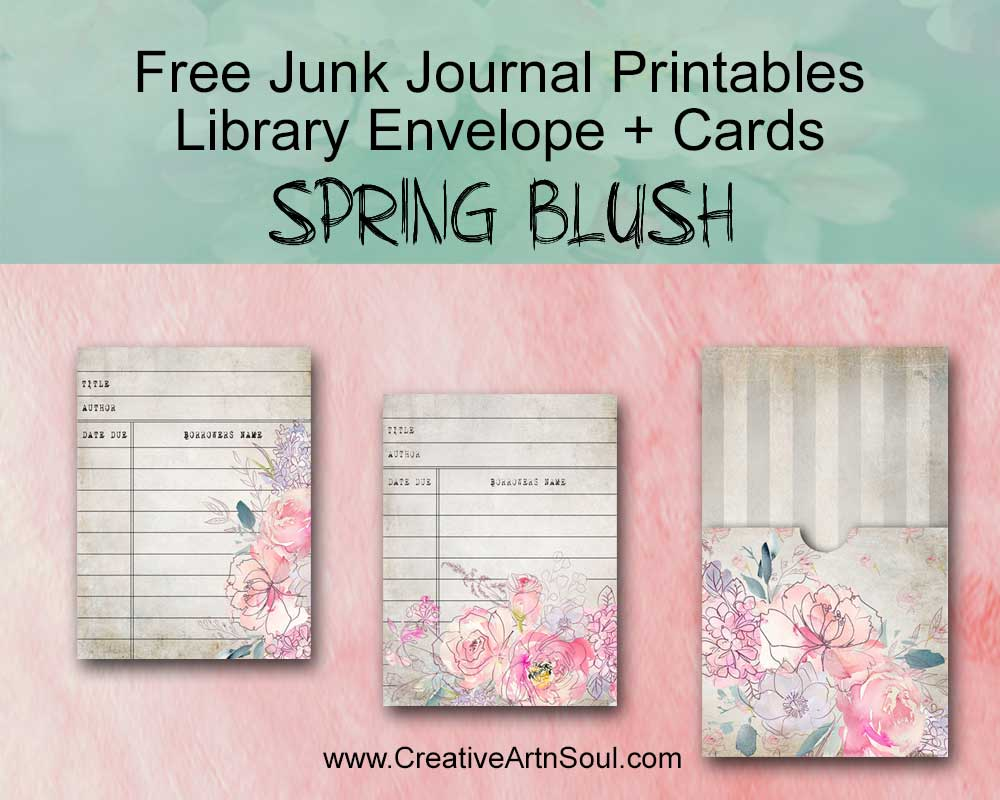 Free Printable Library Cards and Pocket for your Junk Journals