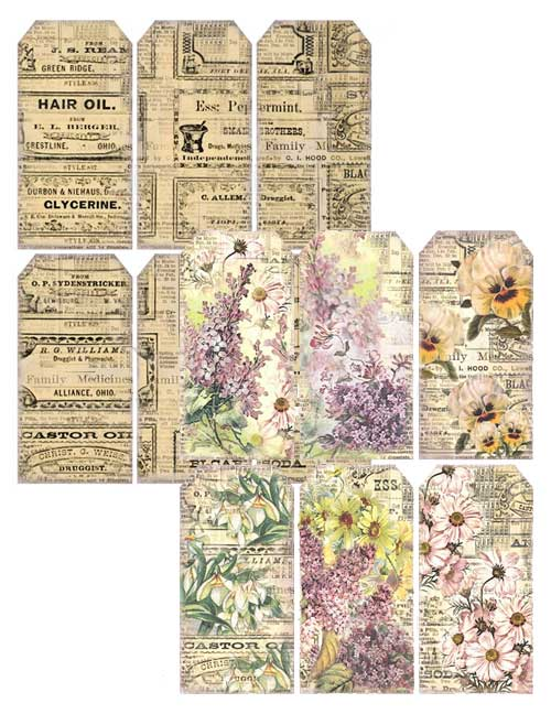 Free Printable Tags for Your Junk Journals