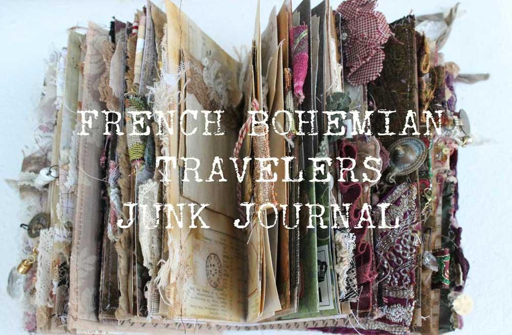 French Bohemian Travelers Junk Journal