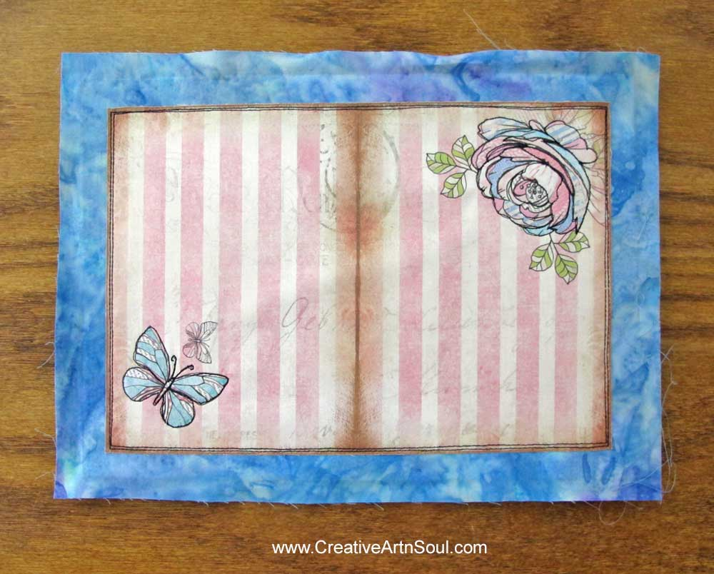 Scrappy Garden Fabric Journal Cover
