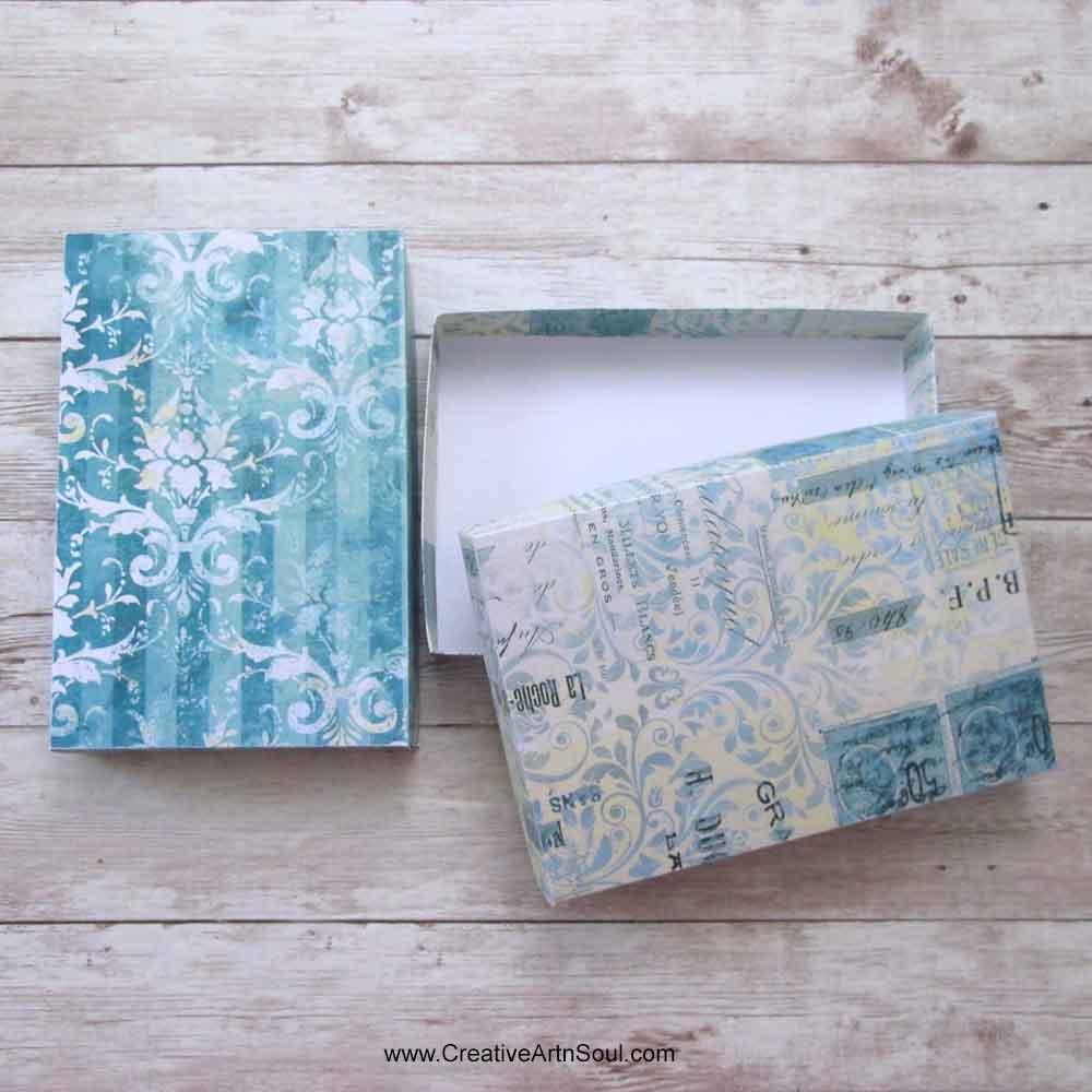 Vintage Blue Printable Boxes