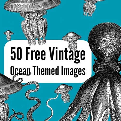 Free Printable Vintage Ocean Themed Images