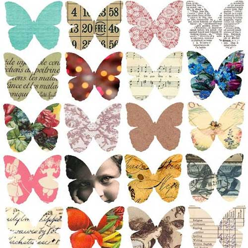 Free Printable Butterfly Collage Sheet
